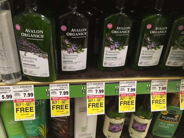 avalon organics buy 1 get 1 free bogo kroger