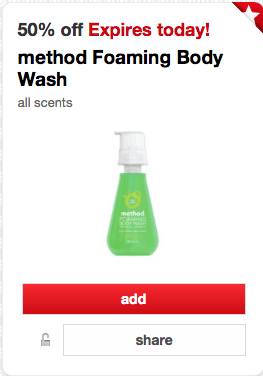 method foaming body wash coupon target