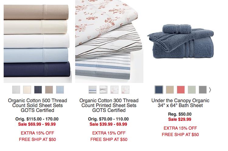 organic sheets macy's