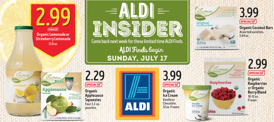 new organic Aldi products