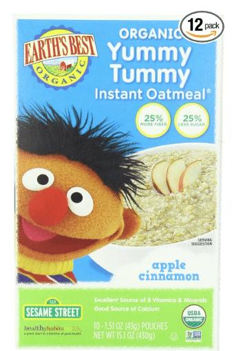 earth's best organic oatmeal