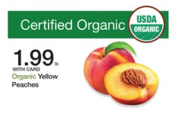 organic peaches kroger