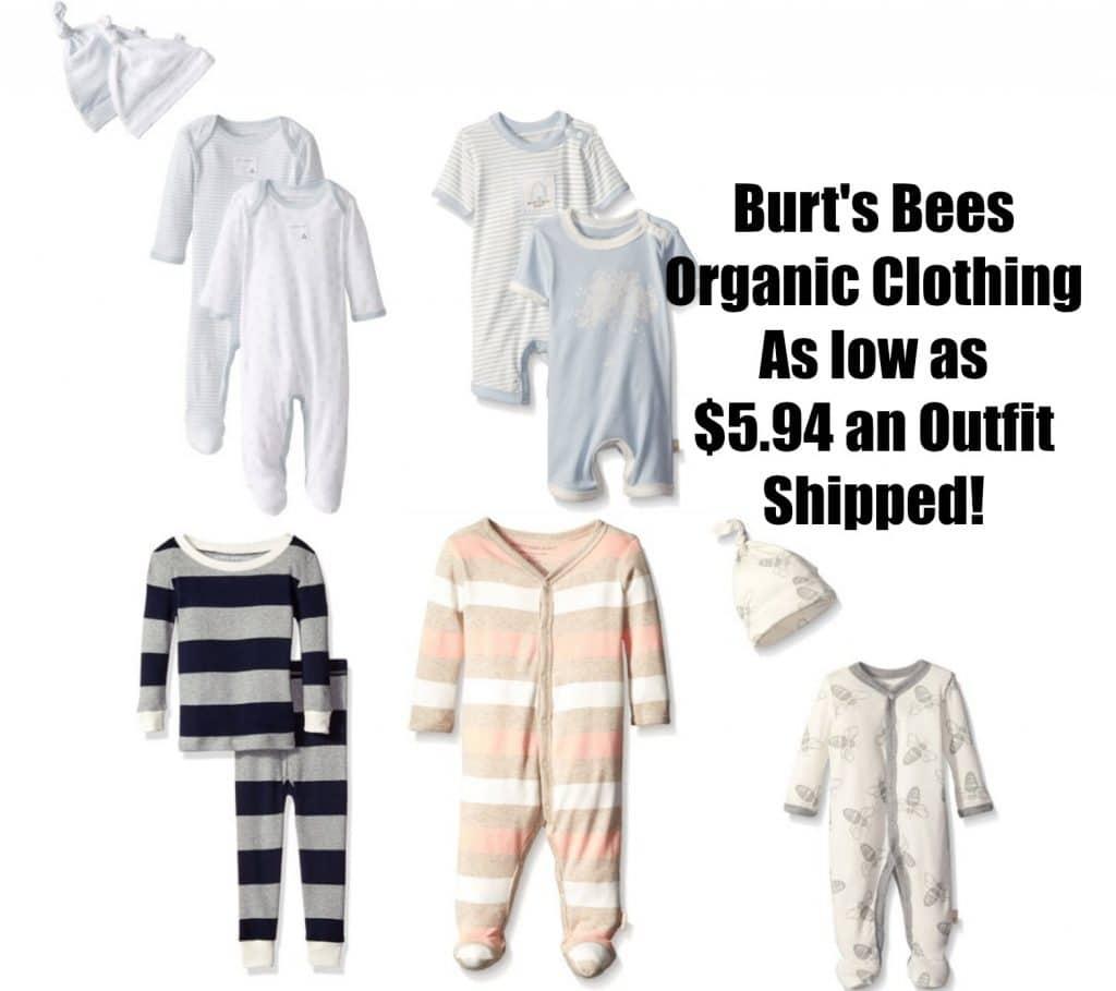 burt's bees organic clothing
