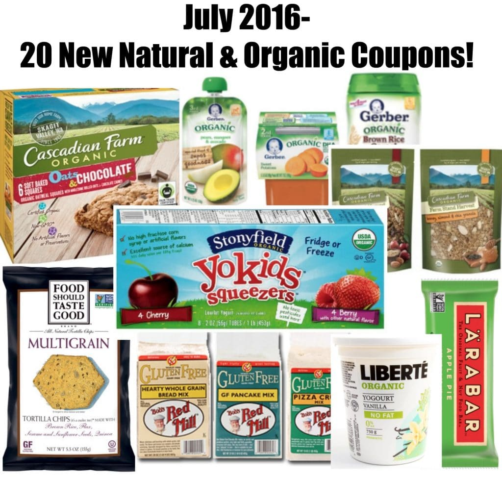 july 2016 organic coupons