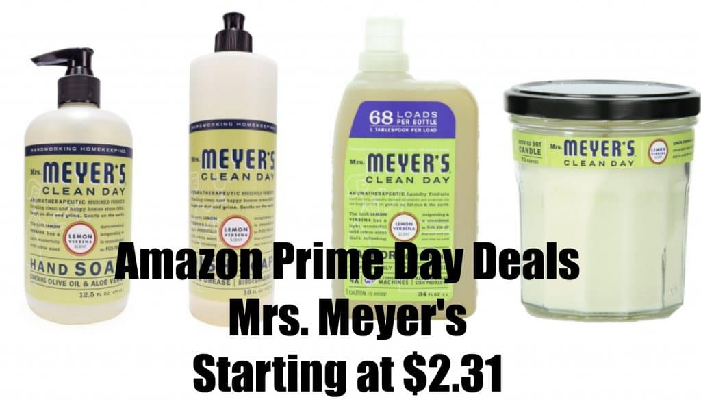 mrs. meyer's 35 off amazon prime day