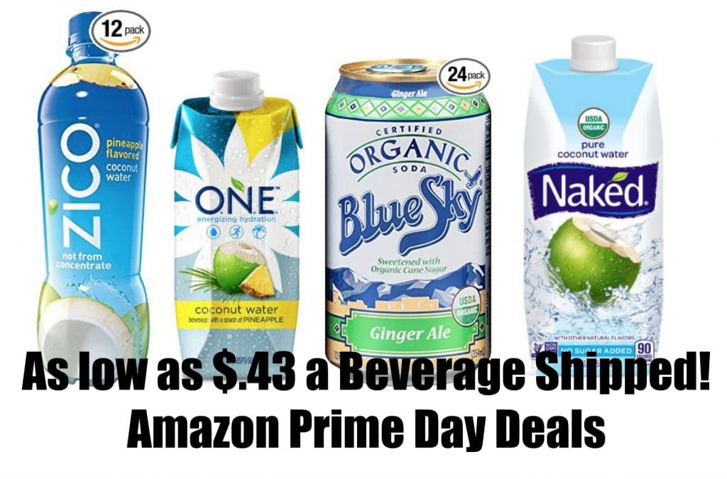 natural and organic beverage deals amazon prime day