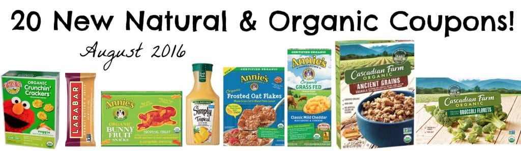 20 new printable organic coupons august 2016