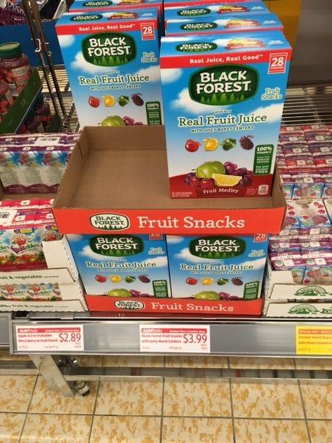 black forest fruit snacks aldi