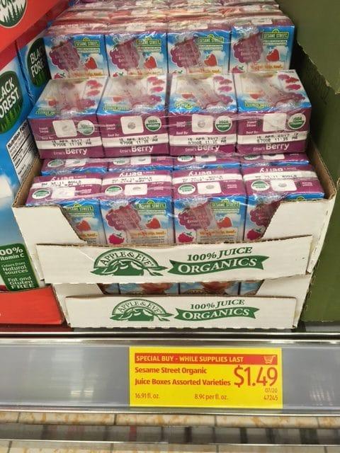 apple & eve organic juice boxes aldi