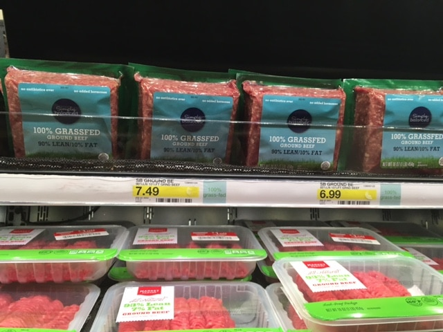 100% grass-fed beef at target