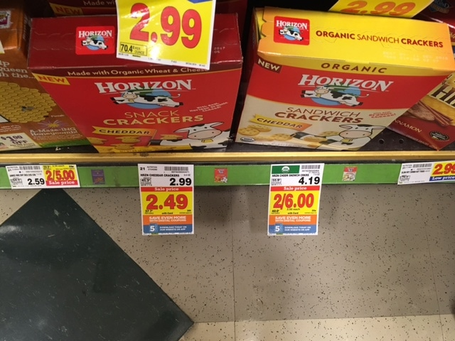 horizon snack crackers kroger
