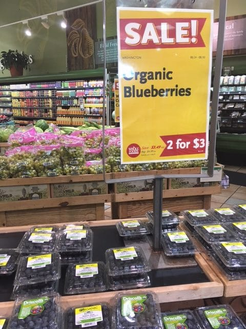 organic blueberries whole foods