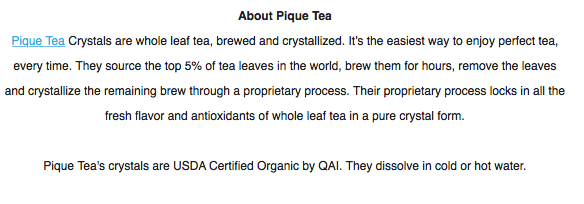 free organic tea sample