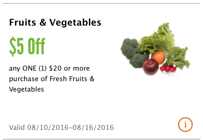Look for fresh vegetable (and fruit) coupons on fresh vegetable product packaging. In the produce section I find many fresh produce items with peelie coupons. Fresh Express, Nature Sweet Tomatoes, organic girls celery and Mann's fresh cut vegetables.