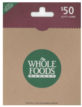 discounted whole foods gift cards