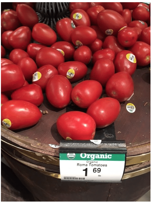 organic tomatoes kroger