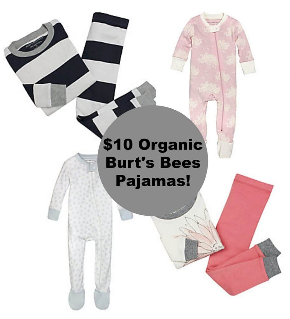 burt's bees organic pajama flash sale $10