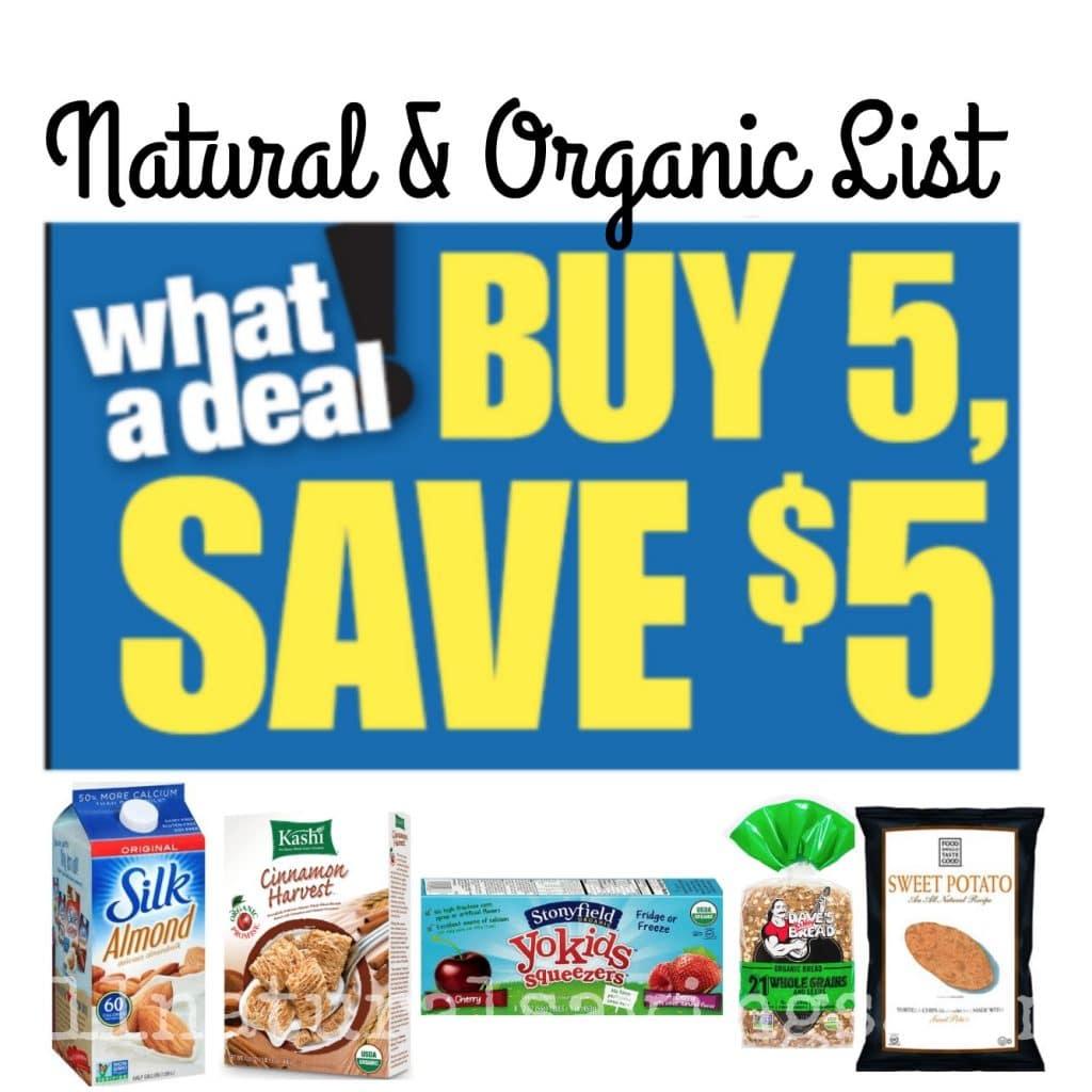 kroger organic mega event buy 5 save 5