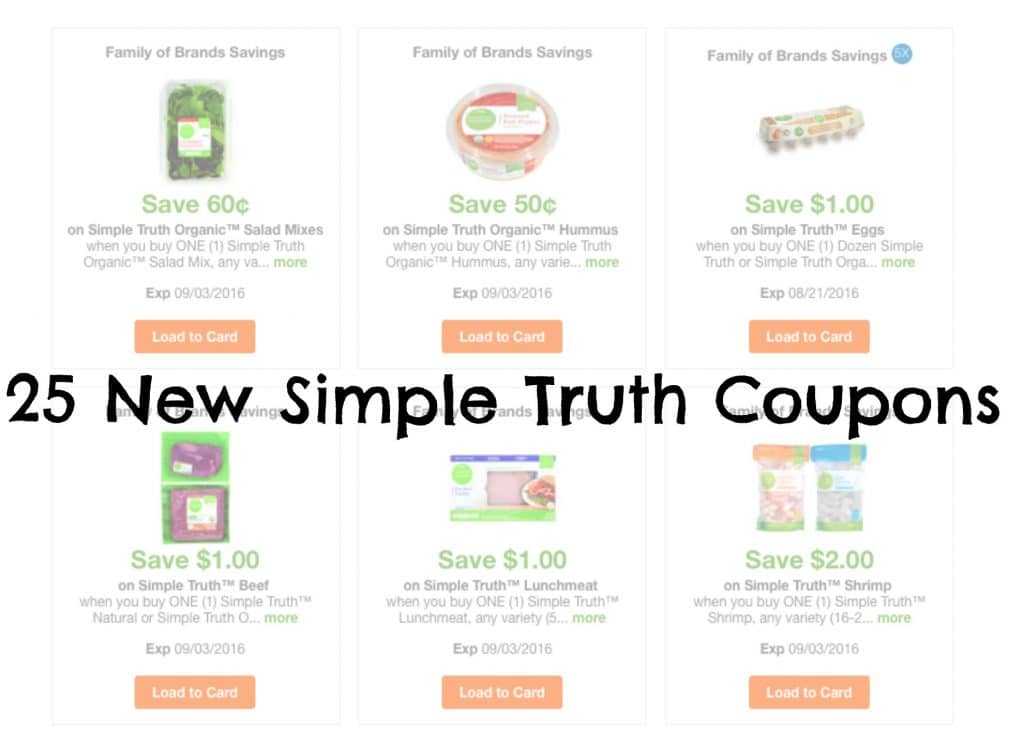 simple truth organic coupons august 2016