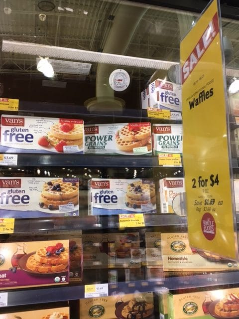 van's waffles free at whole foods