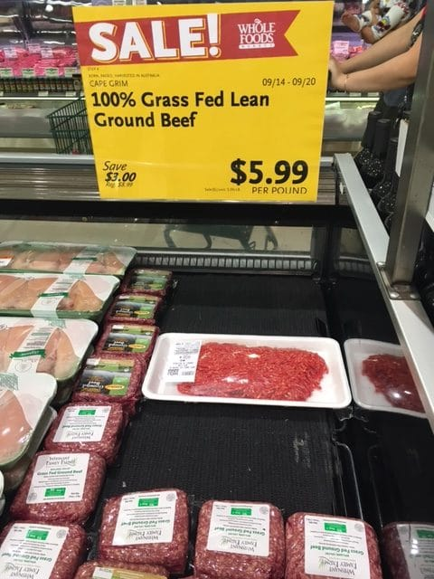 100% grass fed beef whole foods