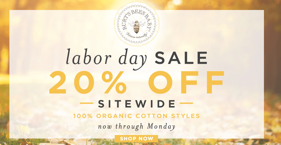 burt's bees labor day sale