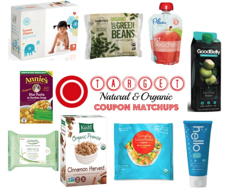 target organic coupons matchups and deals 9/4/2016
