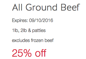 target meat coupons
