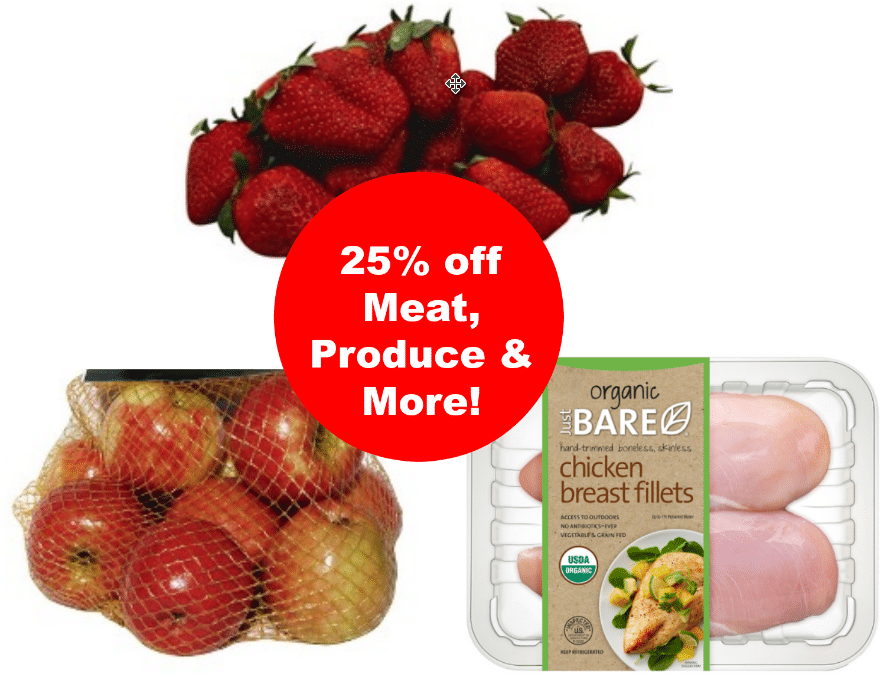 25% off meat organic produce more target