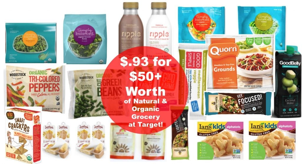 Target shopping list $.93 for $50 worth of organic grocery