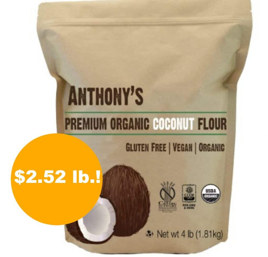 Anthony's Organic Coconut Flour as low as $2.52 lb. on