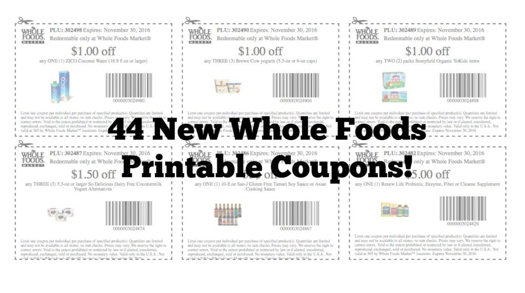 whole foods market printable coupon september 2016