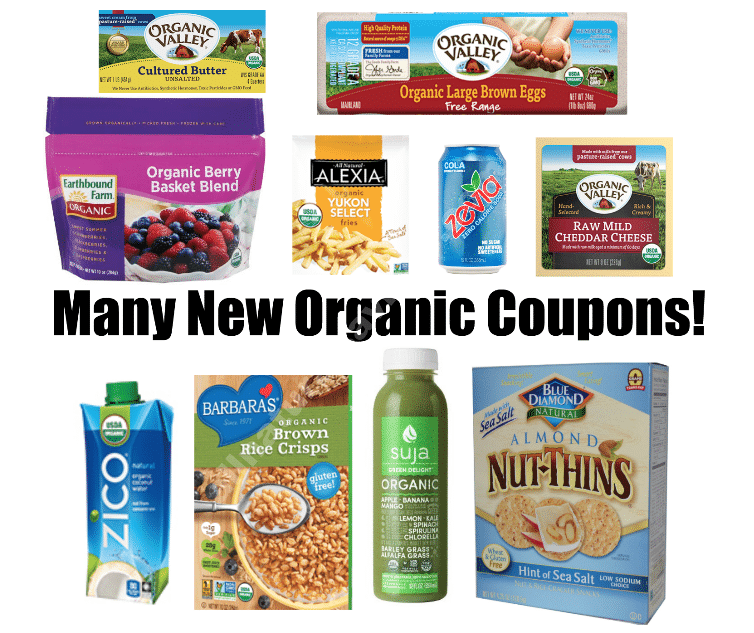 more new organic coupons