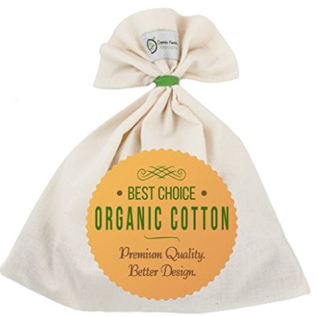 organic cotton unbleached nut milk bag