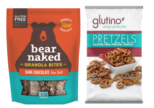 bear naked granola bites and glutino pretzels coupons