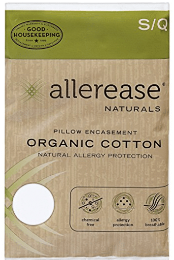 allerease organic pillow cover