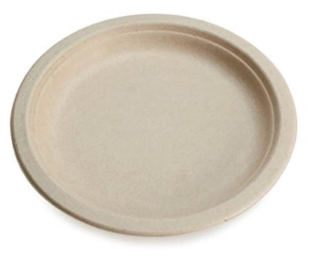 unbleached paper plates