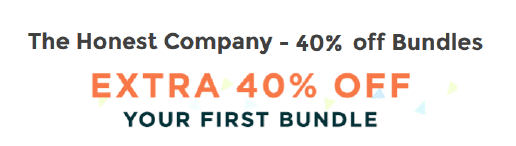 the honest co 40% off bundles coupon code
