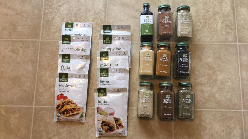 sprouts simply organic spices