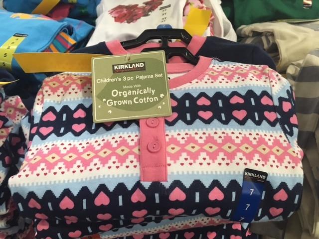 kirkland organic pajamas
