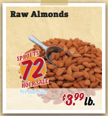 raw almonds sprouts