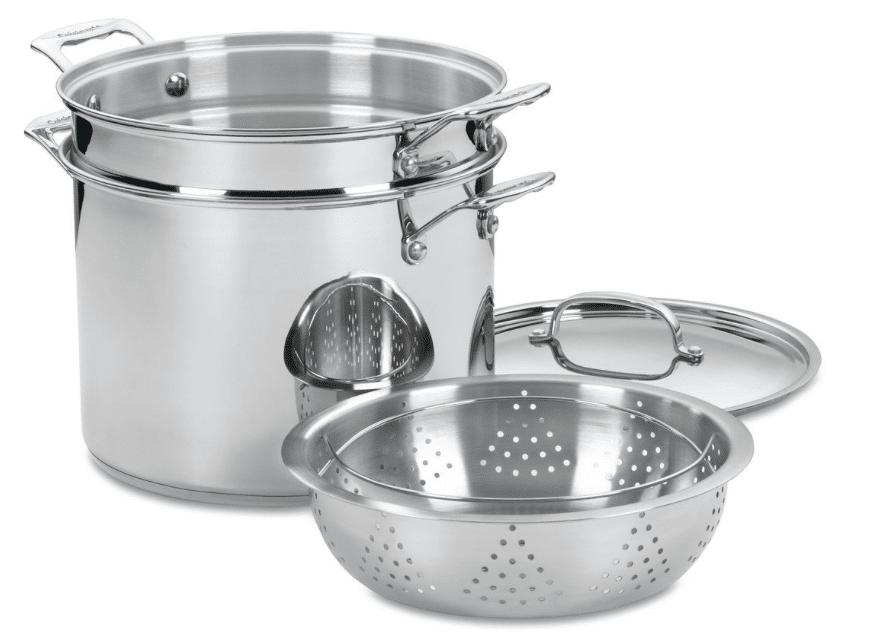 cuisinart stainless steel pasta steamer set