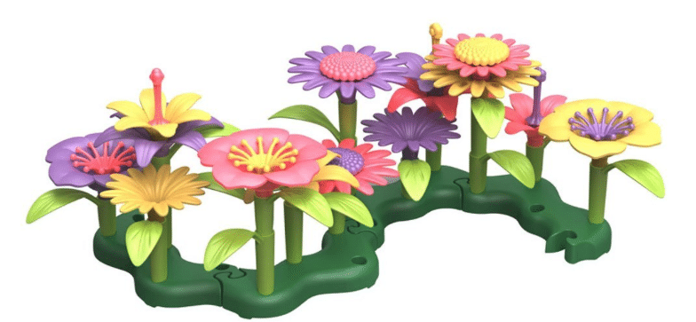 green toys flowers set