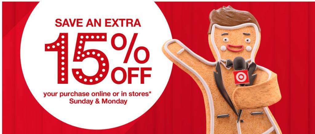 target 15% off coupon