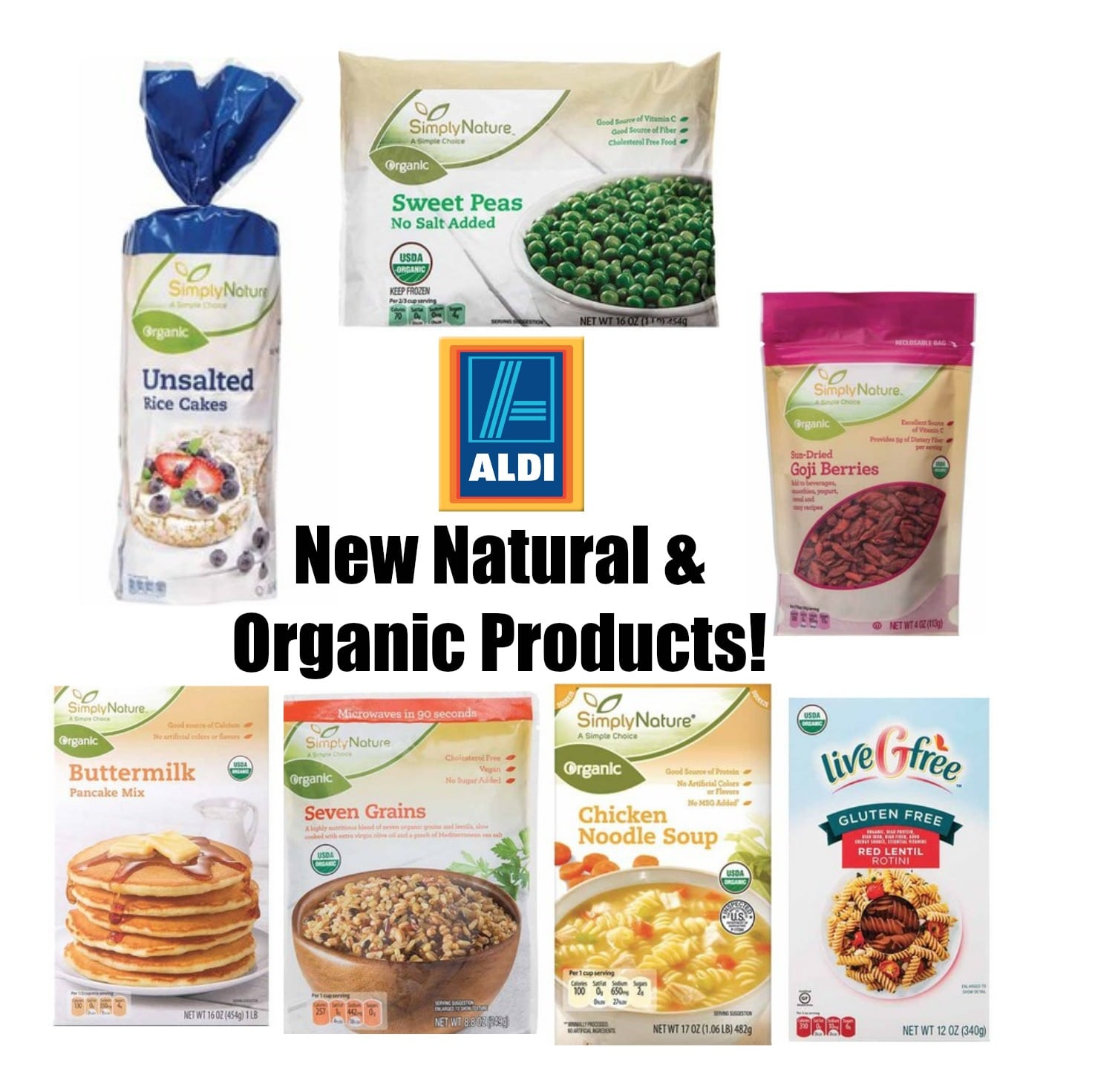 Aldi new natural and organic product list all natural for List of natural items