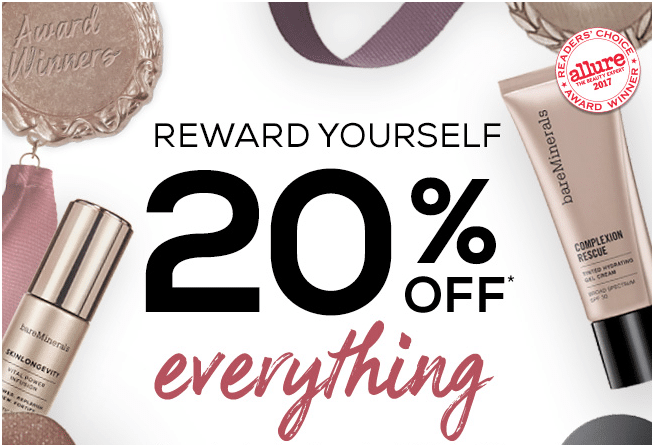 Bare Minerals- 20% off Sitewide Sale