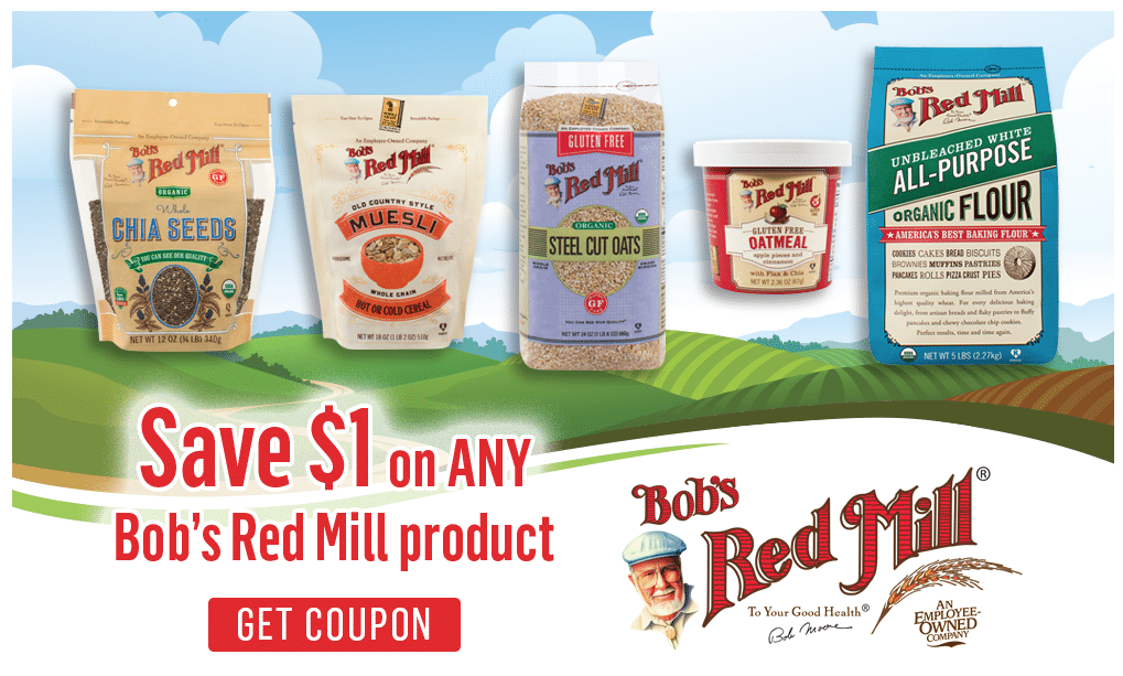 Bob's red mill Coupon go to tusagrano.ml Total 17 active tusagrano.ml Promotion Codes & Deals are listed and the latest one is updated on November 24, ; 10 coupons and 7 deals which offer up to 75% Off, $5 Off, Free Shipping and extra discount, make sure to use one of them when you're shopping for tusagrano.ml; Dealscove.