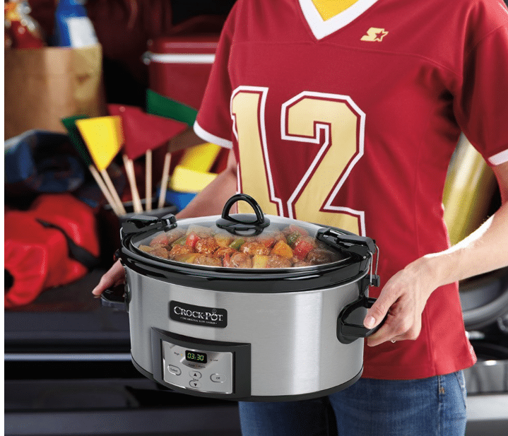 looking for a crockpot today only amazon has the popular crockpot brand 6 qt cook u0026 carry slow cooker on sale for the best price ever