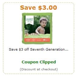 $3 Seventh Generation coupon