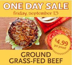 WF Grass Fed Beef Sale